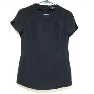 Ted Baker. Size 1. Black tulip sleeve blouse
